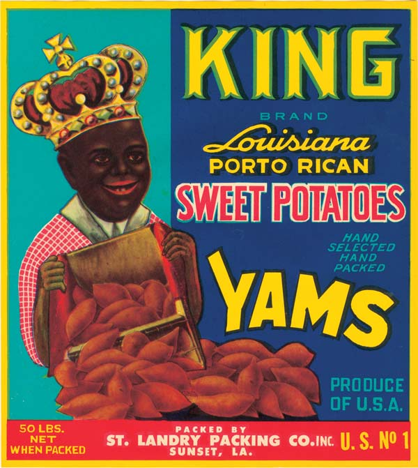 Yams Crate Label - King