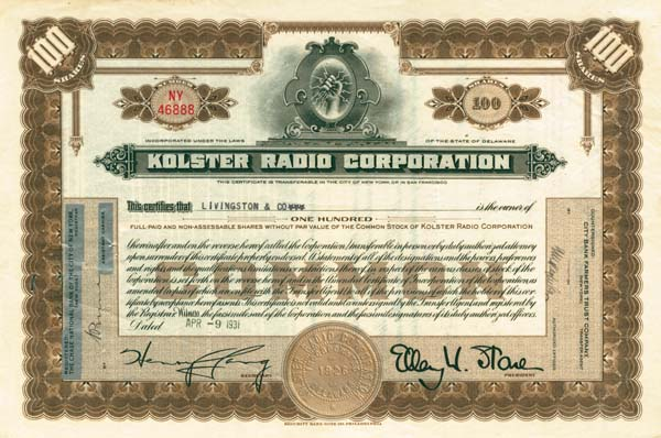 Kolster Radio Corporation
