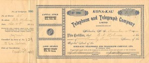Kona=Kau Telephone and Telegraph Company Limited