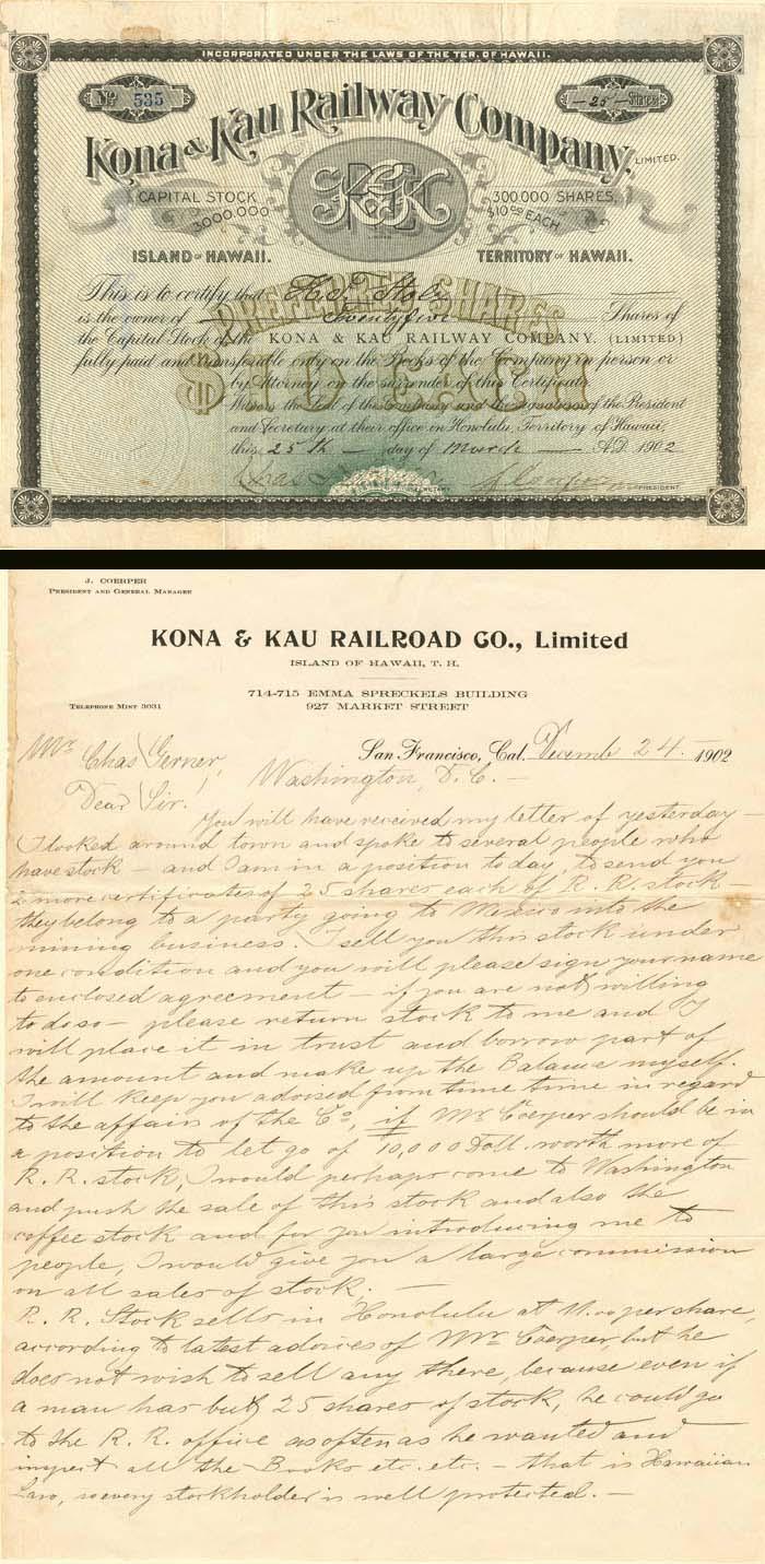 Kona & Kau Railway Company - SOLD
