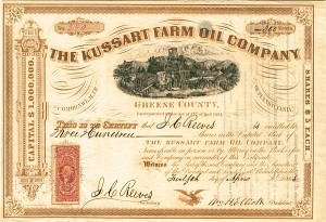 Kussart Farm Oil Company - Stock Certificate - SOLD