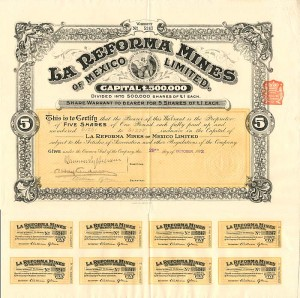 La Reforma Mines of Mexico Limited