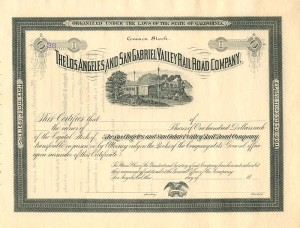 Los Angeles and San Gabriel Valley Railroad Company