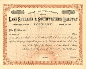 Lake Superior & Southwestern Railway Company - SOLD