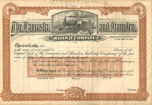 Lancaster and Hamden Railway Company - SOLD