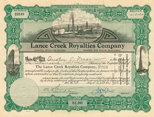 Lance Creek Royalties Company - Stock Certificate