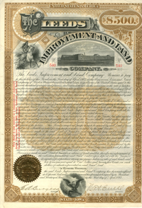 Leeds Improvement and Land Company $500 Bond