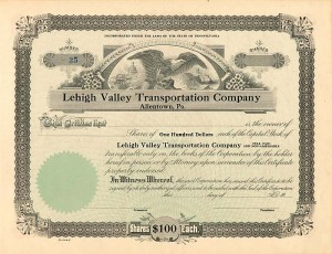 Lehigh Valley Transportation Company of Allentown, PA.