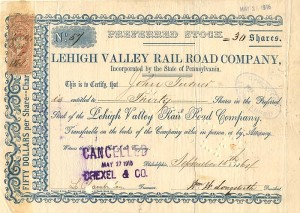 Lehigh Valley Railroad Company - SOLD