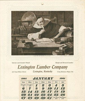 """The Antiquary"" Salesman's Sample Calendar"