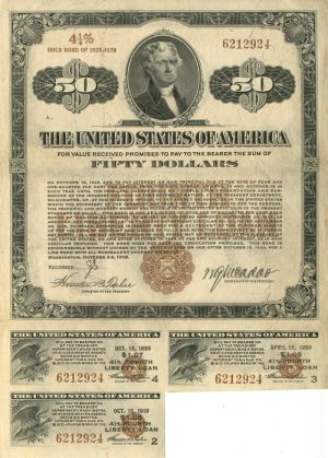 $50 4th Liberty Loan Bond