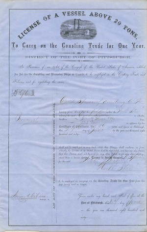 License of a Vessel Above 20 Tons