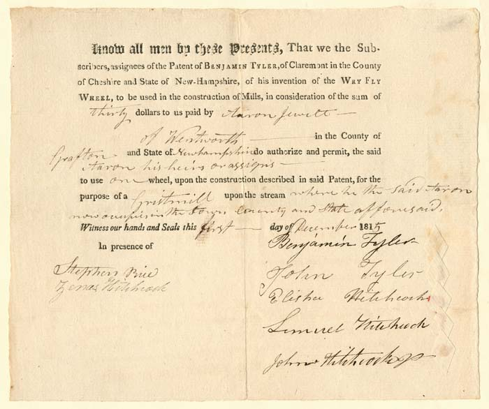 License for Grist Mill