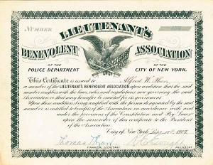 Lieutenant's Benevolent Association of the Police Department of the City of New York - SOLD