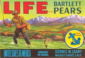 Fruit Crate Label - Life Bartlett Pears