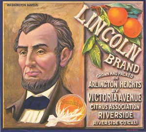 Fruit Crate Label - Lincoln Brand