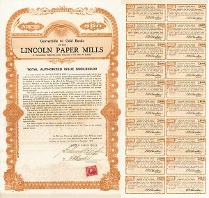 Lincoln Paper Mills Bond