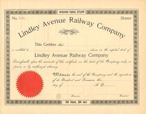 Lindley Avenue Railway Company