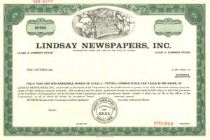 Lindsay Newspapers, Inc.