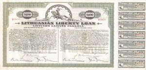 Lithuanian Liberty Loan Bond