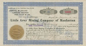 Little Grey Mining Company of Manhattan