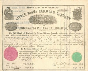 Little Miami and Cincinnati & Indiana Railroad Companies - SOLD