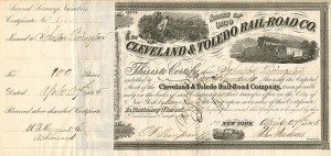 Cleveland & Toledo Rail-Road Co. signed by Johnston Livingston