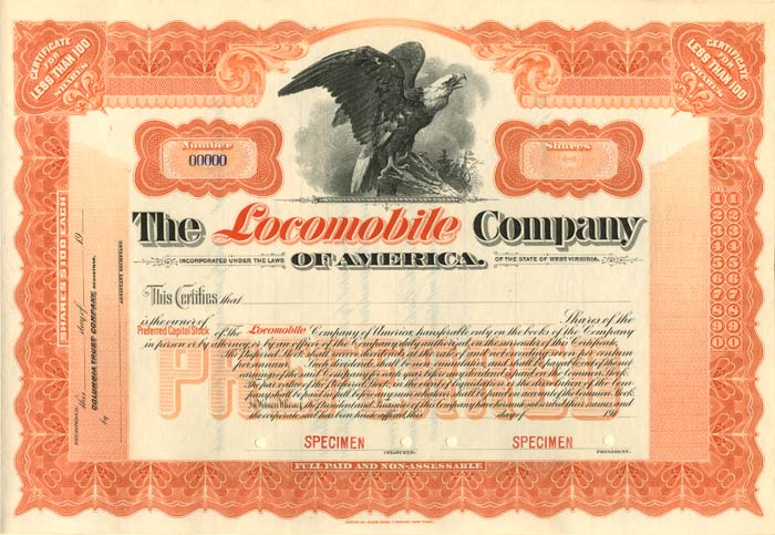 Locomobile Company of America - SOLD