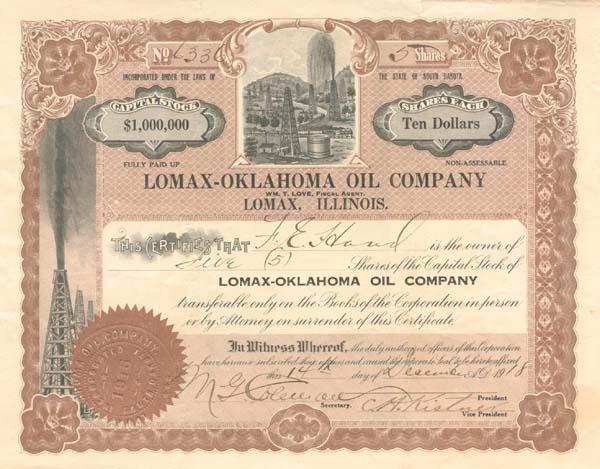 Lomax-Oklahoma Oil Company