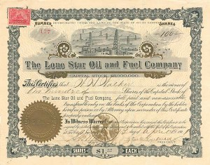 Lone Star Oil and Fuel Company - SOLD
