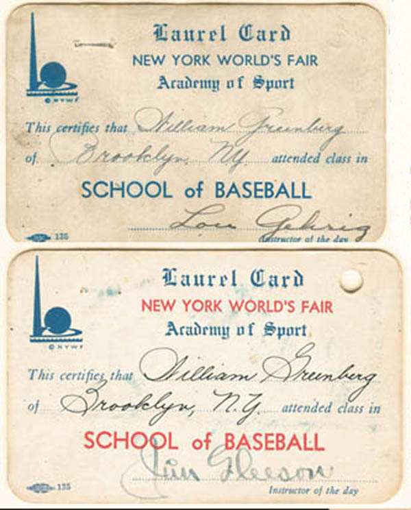 Lou Gehrig - 1939 NY World's Fair
