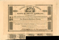 Louisville, Cincinnati & Charleston Railroad - £250