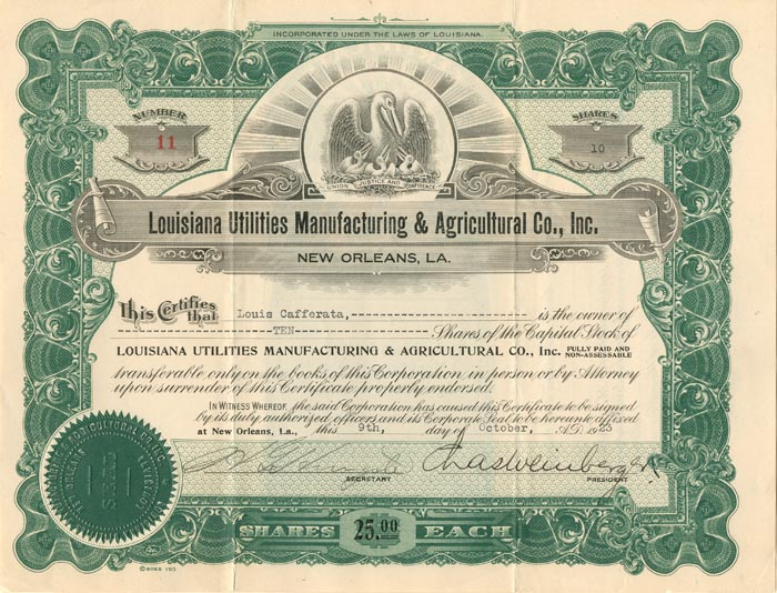 Louisiana Utilities Manufacturing & Agricultural Co., Inc.