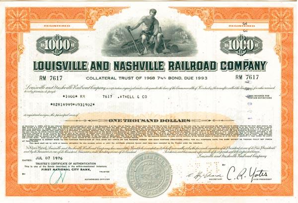 Louisville & Nashville Railroad - Stock Certificate