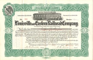 Louisville and Eastern Railroad Company - SOLD