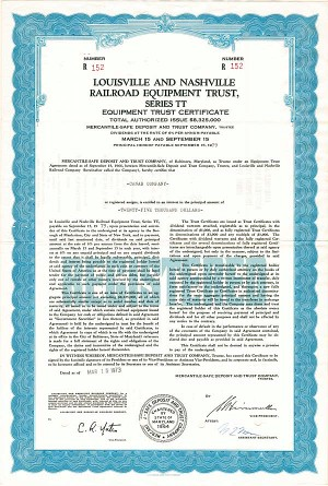 Louisville & Nashville Railroad Equipment Trust