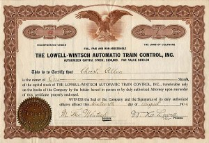 Lowell-Wintsch Automatic Train Control, Inc.