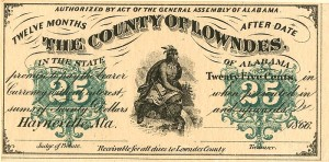 County of Lowndes - 25 Cents