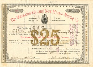 Massachusetts and New Mexico Mining Co.