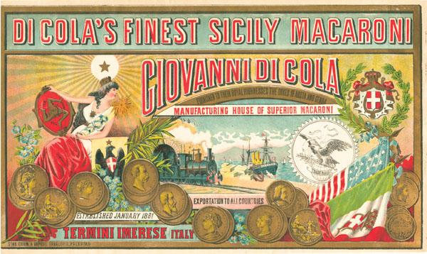 Macaroni Crate Label - Giovanni di Cola