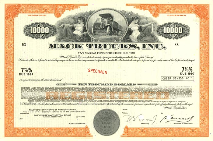 Mack Trucks Inc. - Bond