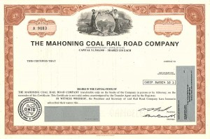 Mahoning Coal Rail Road Company