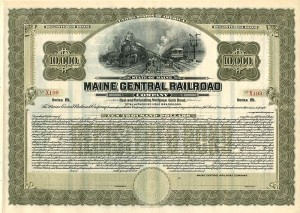 Maine Central Railroad - $10,000