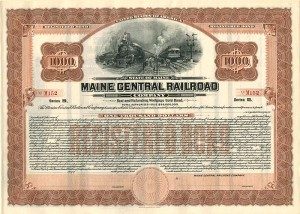 Maine Central Railroad - $1,000