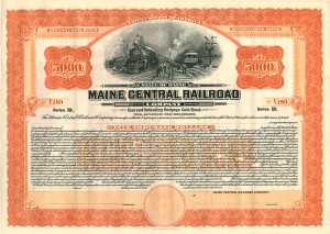 Maine Central Railroad - $5,000