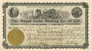 Major Gold Mining Co. of Cal.