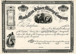 Manhattan Silver Mining Company of Nevada - SOLD