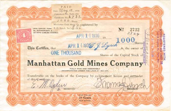 Manhattan Gold Mines Company