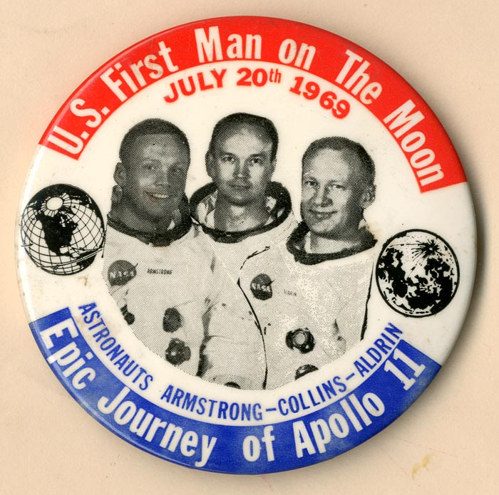 U.S. First Man on The Moon Pin