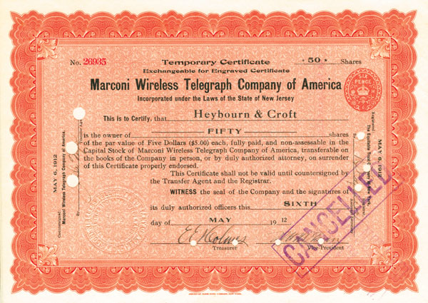 Marconi Wireless Telegraph Company of America